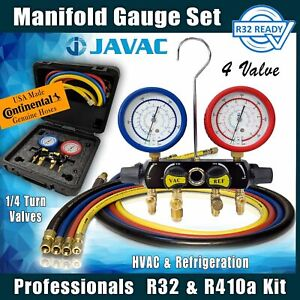 R32 Refrigerant Manifold Gauge Set, Quality A2L Rated set from Javac Australia