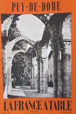 Gastronomia Turismo Folklore Rivista la Francia Tavolo 1969 N°136 il Puy di IN