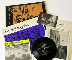 "The Nightingales - This UK 1985 Vindaloo 12"", 7"" & 7"" Flexi Single Postcard Book"