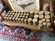 Gros lot cylindres en cire Pathé pour phonographe gramophone avec boite vintage