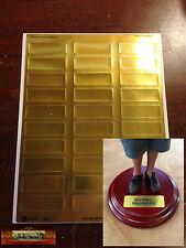 """M01200 MOREZMORE 30 Gold Foil Doll Base Name Labels 1 Sheet 3/4"""" x 2 1/4"""" A60"""
