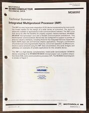 Motorola - 68302 Integrated Multiprotocol Processor (Imp) Data Sheet (1991)