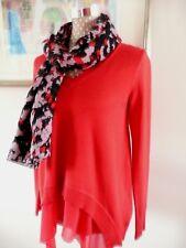 Luxus STEFFEN SCHRAUT, Pullover in Layer-Optik,  Rot, Größe 34