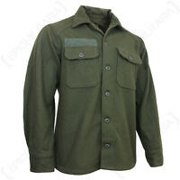 Original US M51 Wool Shirt - Korean War Army Surplus Combat Uniform Olive Green
