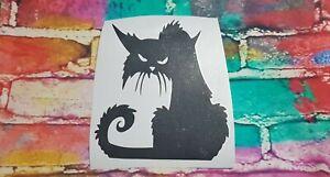 HALLOWEEN CAT vinyl decal sticker laptop wall mirror 23x20cm UV & WATER proof