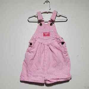 OshKosh B'gosh overalls shortalls vestpak toddler girls 4T pink lemonade summer