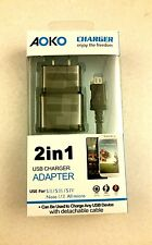 Samsung Galaxy S2 S3 S4 S5 Micro USB Data Cable Plus Home Wall Charger
