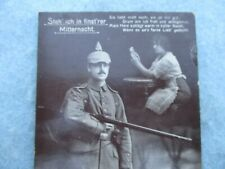 Wwi German Army Photo Post Card Soldier with Pickelhaube and Sweet Heart Ww1