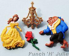 La belle et la Bête-Disney Belle Rose Lustre Dress It Up Craft Boutons