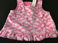 Janie and Jack  Girls Flamingo Ruffle Top pink sleeveless  NWT Size 5