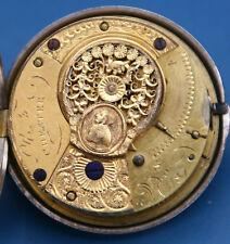 Taschenuhr Spindeluhr *läuft* engl. Punzen um 1800 Sterlingsilber 925er Silber