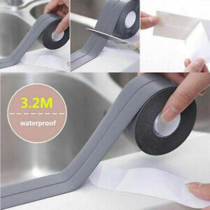 Gray 3.2M 22MM Adhesive Waterproof Sealant Strip Sink Sealing Tape Bath Kitchen