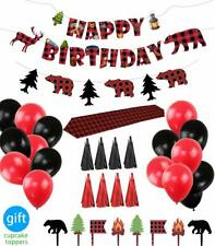 Lumberjack Party Supplies Birthday Party Decorations and Favors Set for Baby