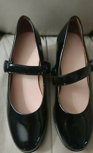 Dr. Comfort COCO Women Black Patent Leather Dress Shoes Heels  Size 9.5 M