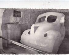 Jungfraujoch Car Ice Sculpture Switzerland Postcard 1966 used VGC