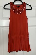 Girls M&S Autograph Tunic Top Age 10-11 Red Sequin Detail