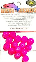 Hevi-Beads 10mm UV Ultra Roe Violet Pink - Salmon Trout Steelhead Spin Bait Fly