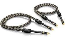 3,0 m VIABLUE NF-S1 silver QUATTRO Câbles Câble RCA plaqué or T6S FICHE