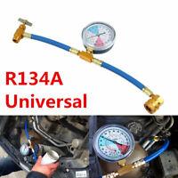Universal Car Air Conditioning AC R134A Refrigerant Recharge Hose Pressure Gauge