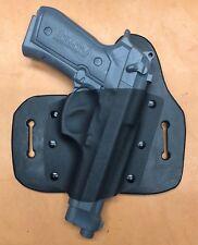 Leather Kydex Hybrid OWB holster for Beretta 92