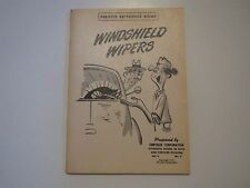 1951 CHRYSLER DODGE PLYMOUTH DESOTO WINDSHIELD WIPERS REFERENCE MANUAL VOL4NO5