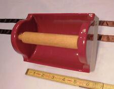 Vintage *Dark Burgundy* Ceramic Glossy Recessed Mount Toilet Paper Holder  NOS