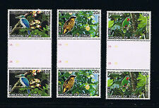 Tonga Birds Definitive Stamp Series Part 2 - Gutter Pairs Set