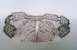 Rare Solid Silver Art Nouveau Victorian Nurses Belt John Millward Banks 1900