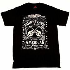 JOHNNY CASH T-shirt Genuine American Rebel Tee ZION ROOTSWEAR Adult SMALL New