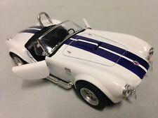 """1965 Shelby Cobra 427 S/G, 5"""" Die Cast Metal 1:32 Pull Back Kinsmart Toy White"""