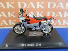 Die cast 1/24 Modellino Moto KTM 950 LC8 Paris Dakar 2002 F.Meoni