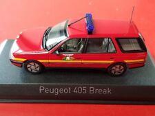 1/43 Norev Peugeot 405 Break 1991 Pompiers 474553