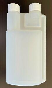 8 x 500ML Plastic Twin Chamber Bottle Chemical Bottle TWIN NECK GRADUATED  -AU