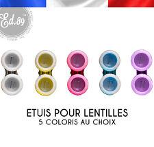 Etuis de lentilles - Lens cases - 7 coloris au choix