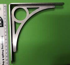 UK MADE Stainless Steel CD DVD Shelf Support Angle Bracket Iron Bridge Style