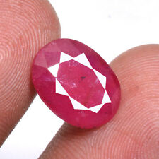 Certified Natural 6.00 Ct+ Red Mozambique Ruby Ring Size Faceted Cut Gemstone