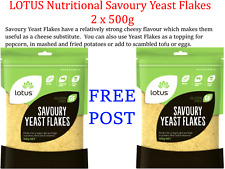 2 X 500g Lotus Nutritional Savoury Yeast Flakes ( 1kg Deal ) * Post