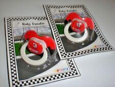 Lot of 2 Dale Earnhardt Sr #8 & Jr #3 NASCAR Racing Baby Fanatic Pacifier Set