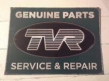 TVR Genuine Parts Garaje Pared De Metal SIGN-clásico estilo vintage y retro style-Regalo Genial
