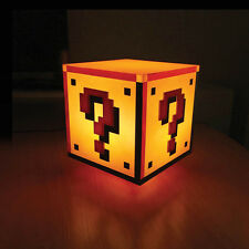 Official Super Mario Bro's Question Block Mood Night Kids Bedroom Bedside Light