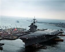 New 8x10 Navy Photo: USS SARATOGA Aircraft Carrier Home from Persian Gulf - 1991