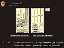 Griffon L35A140 1/35 Standard Type Front/Rear Mud Flaps& Side Skirts for Tiger I
