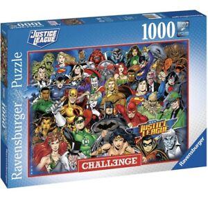 Ravensburger JUSTICE LEAGUE DC COMICS  CHALLENGE Jigsaw Puzzle1000 pc FREE P&P