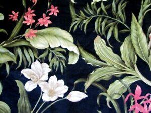 "Vintage Bark Cloth Panel Screen Printed by Waverly ""Wailea Coast"""