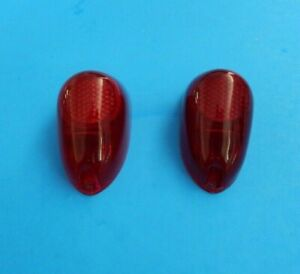 "New Pair Rear Tail Light Lens Stop Lamp Austin Healey Bugeye Sprite ""Lucas"""