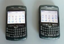 Nice Pair of AT&T BlackBerry Curve 8310 & Chargers Gray & Silver Lot of 2
