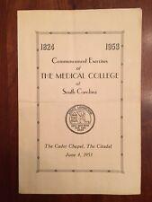 RARE 1953 Medical College of South Carolina Commencement, Citadel, Charleston SC
