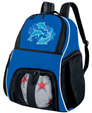 COOL DOLPHIN SOCCER Ball Bag or Volleyball Gear BACKPACK -A TOP GIFT IDEA!