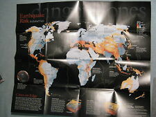 EARTHQUAKE RISK MAP+EARTHQUAKES LIVING WITH THREAT National Geographic Apr. 2006