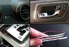 Silver Micro Trim Dash Gauges Stereo Speakers Console Diy Chrome Trim 4mm